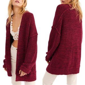 NWT Free People XS High Hopes Open front Cardigan